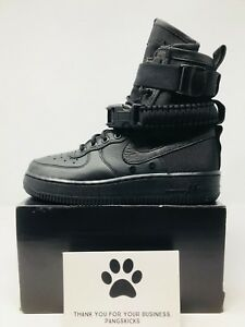 "Original Nike Air Force 1 Sf ""special Field"" Black 857872-002 Women's Size 6-8.5 Diversified Latest Designs Athletic Shoes"