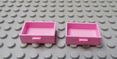 Lego 1 Dark Purple with pink drawers 2x3x2 box container cabinet dresser