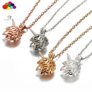New-Aroma-Diffuser-unicorn-Necklace-Lockets-Perfume-Essential-Oil-Aromatherapy