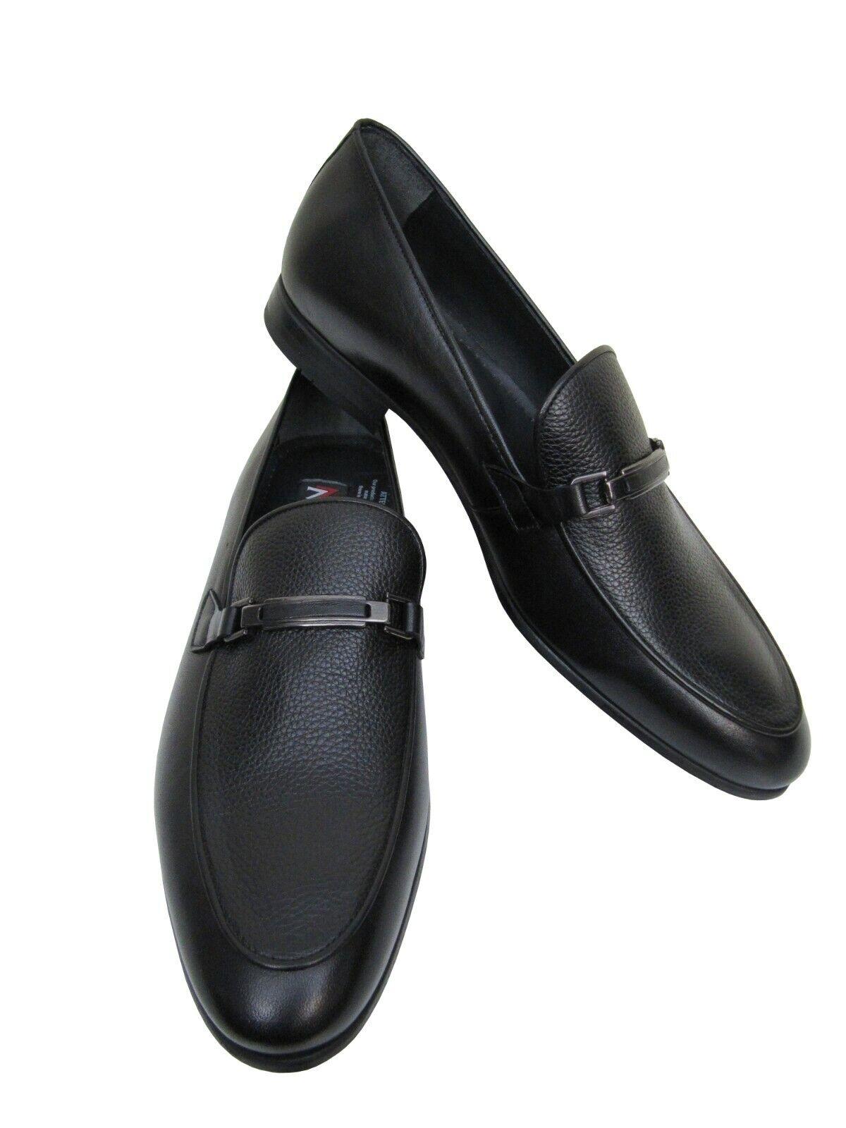Uomo in pelle Scarpe Loafer con fermaglio tg. 39 Nero | Stili diversi  | Sig/Sig Ra Scarpa