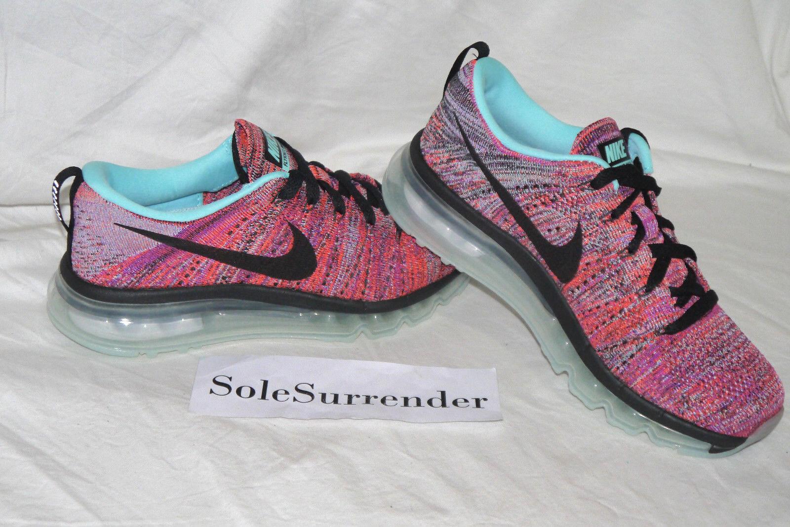 Women's Nike Flyknit Max - CHOOSE SIZE - 620659-009 Black Pink Purple Multicolor