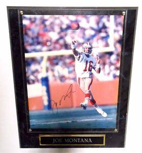 brand new 72e7e d471f Details about Joe Montana Signed Auto Autographed Football Ball SF 49ers  Plaque Mount Memories