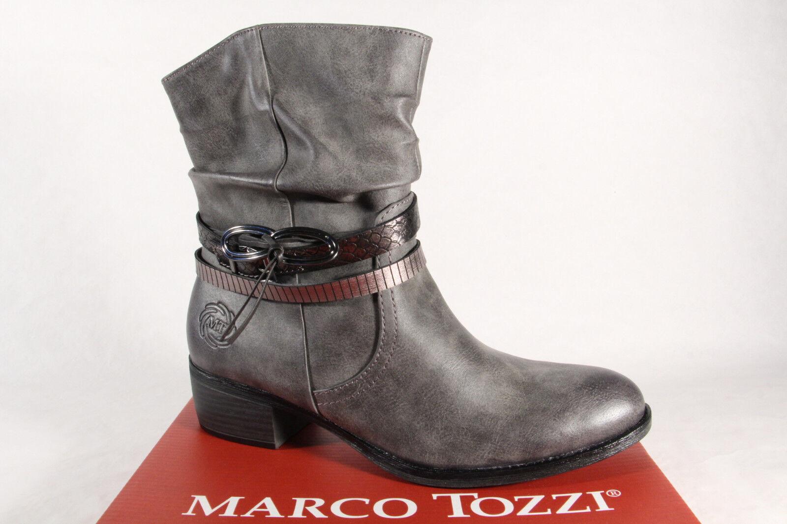 Marco Stivaletti tozzi stivali da donna Stivaletti Marco Stivali, stivaletto stringato grigio 25316 NUOVO! 398514