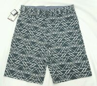 Sovereign Code Boys Gray Geometric Triangle Flat Front Dress Shorts Xl