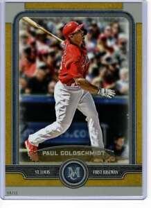 Paul-Goldschmidt-2019-Topps-Museum-5x7-Gold-86-10-Cardinals