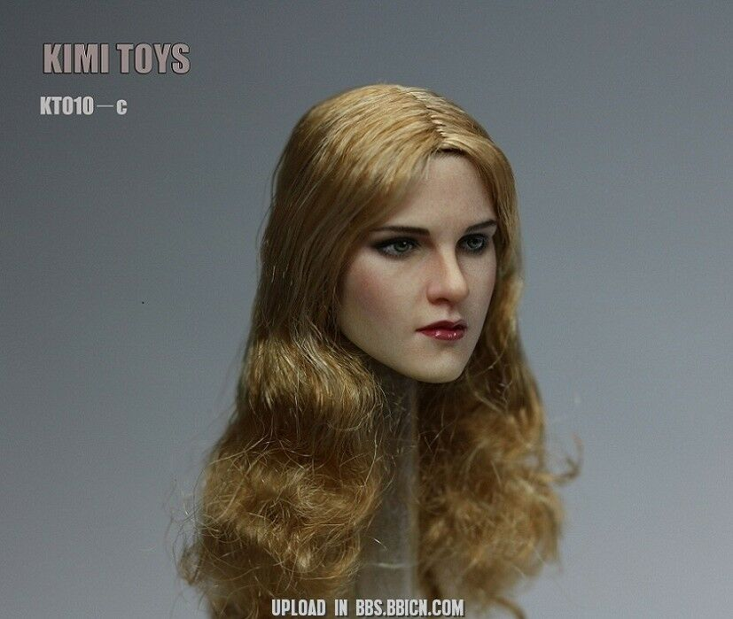 1 6 Female Head Sculpt Curly Hair Hair Hair KIMI KT010C For PHICEN Hot Toys Figure ❶USA❶ 44587c