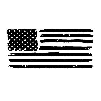 Merica Distressed Flag 8 Decal Sticker Patriotic American