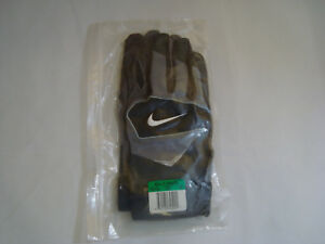 4221c98ad NEW Nike PGF103 Speedtack IV College Football Gloves Black/Grey Size ...