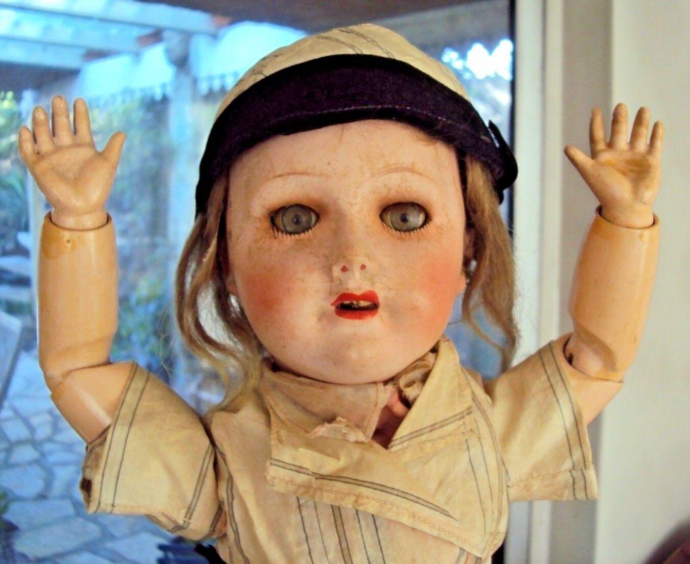 Ancienne poupée corps en bois articulé unis France 301 n°7