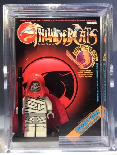 Mumm-ra Thunder Cats Mummra Mini Action Figure w Display Case Mini-Fig 406 80s