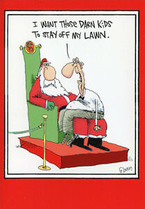stay off my lawn 12 funny boxed christmas cards by nobleworks