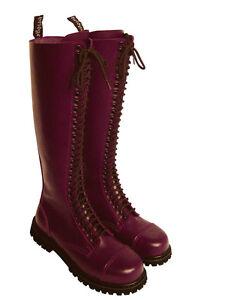 Aus Dem Ausland Importiert 30-loch Ranger Boots Kampfstiefel Springer Stiefel Rangers Bordeaux Rot Weinrot Ein Unbestimmt Neues Erscheinungsbild GewäHrleisten