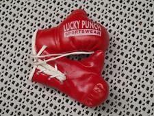 Mini Deko Boxhandschuhe Boxen Lucky Punch F. Autospiegel Miniboxhandschuhe ROT