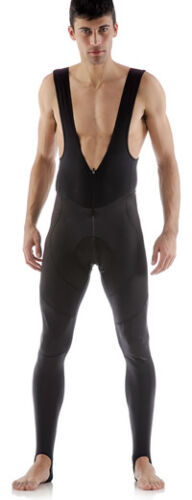 Stark Windproof Cycling BIB TIGHTS with NO CHAMOIS Made by GSG in Italy