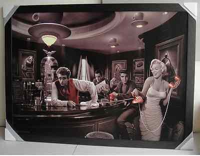 MARILYN MONROE, DEAN, ELVIS GIANT framed POSTER Ready to hang HUGE 1 m X 1.5 m