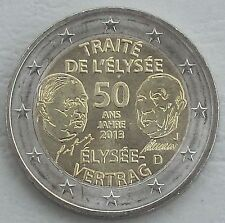 2 euros Alemania J 2013 elíseo-tratado unz