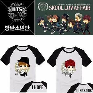 Kpop-BTS-T-shirt-Cartoon-Tshirt-Tops-Bangtan-Boys-Jung-Kook-Suga-Jimin-V-J-hope