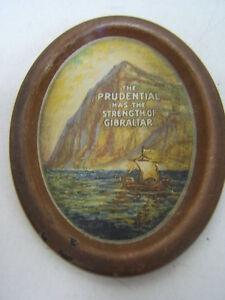 Prudential-Insurance-Rock-of-Gibralter-Oval-Tip-Tray-3-1-2-long-AUC-Free-Ship