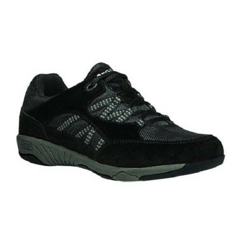 Propet Women's Leila Walking Shoe Sneakers Black Lace Up Size 6-7.5 WIDE
