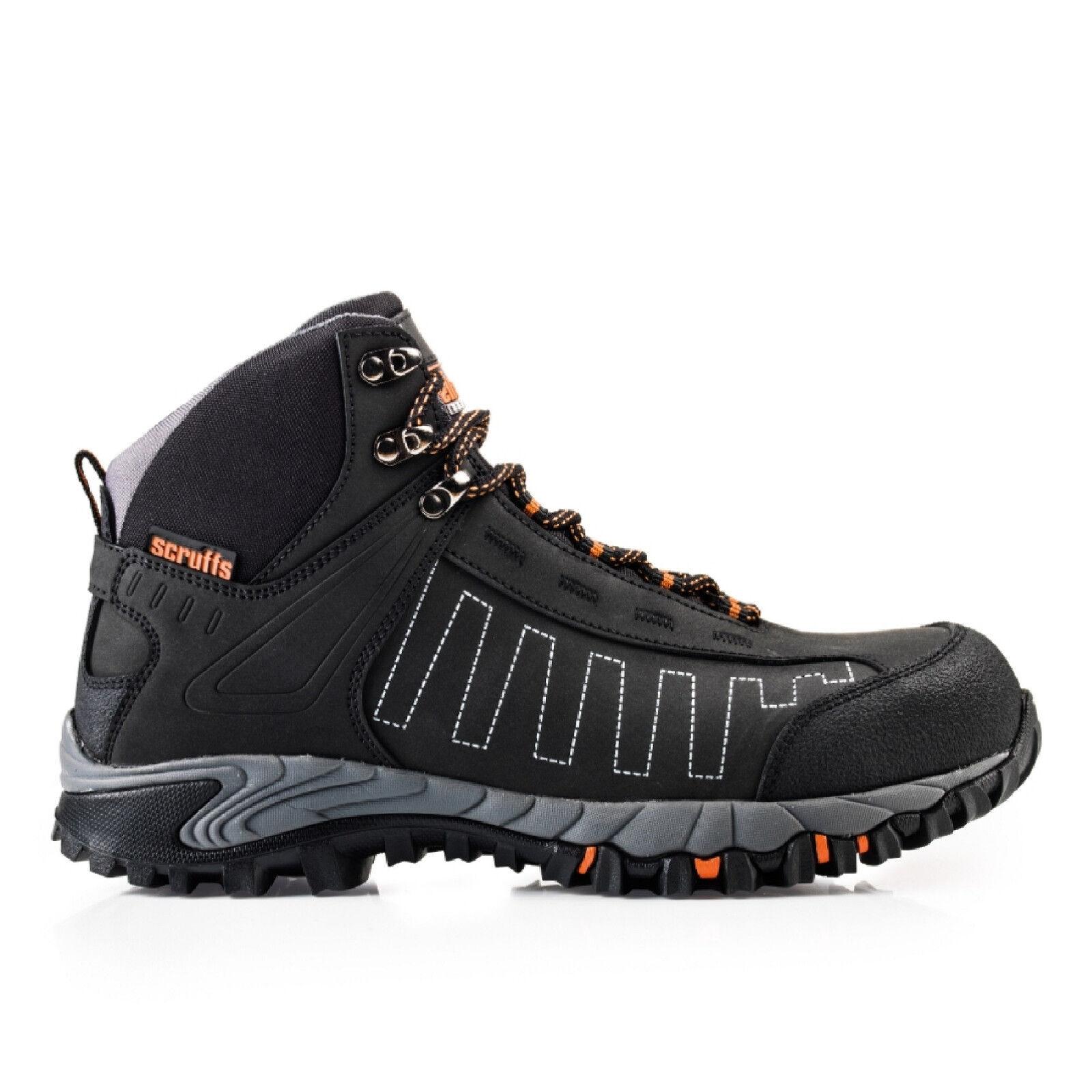 Scruffs Cheviot Seguridad botas   Negro   puntera de aluminio ligero