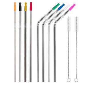 Drinking Straws Metal Reusable Stainless Steel 30 Oz Yeti Tumbler Clean Brush US