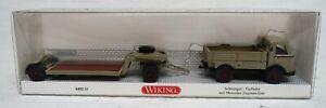 Wiking-1-87-0492-50-Schwergut-Tieflader-Mercedes-neuwertig-erhalten-mit-OVP