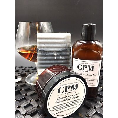 Peppered Cognac Cream Bar Soap- Handmade Men's Body Soap