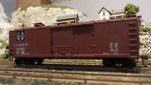 Train-Miniature-HO-Santa-Fe-40-039-DS-Wood-Boxcar-Upgraded-Ex