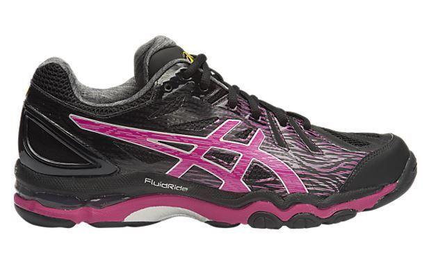 e8900f1097b9 Womens ASICS GEL Netburner Super 6 Netball Court Shoes Black 10 US for sale  online