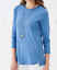 NEW-J-JILL-1X-3X-Side-Button-Tee-Shirt-Top-Perfect-Pima-Cotton-Blue thumbnail 5