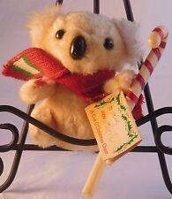 "Norman Industrial Koala Plush 5"" Holiday/Christmas ""Cup O' Cheer"" Vintage Toy"