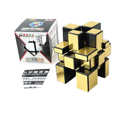 3x3x3 Shengshou Magic Mirror Cube Ultra-smooth Intelligence Puzzle Twist Gold