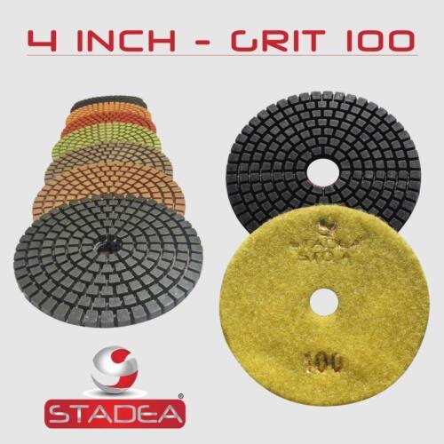 """10 Pcs 4/"""" Premium WET Diamond Polishing Pads Pick Grit"""