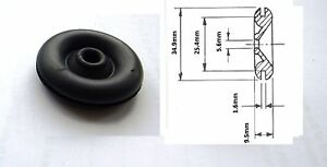 2-x-Original-1-034-25mm-Lucas-Rists-Black-Rubber-Wiring-Grommet-Part-No-863123