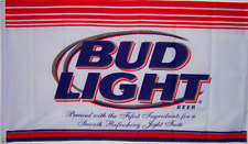 NEW 3X5FT BUDWEISER BUD LIGHT BEER FLAG SPORTS BAR