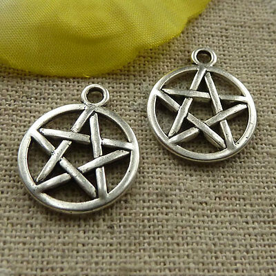 free ship 280 pcs  tibetan silver star charms 20x17mm #4149