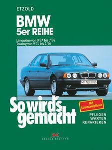 BMW-5er-E34-ab-1987-Reparaturbuch-Reparaturanleitung-Reparatur-Handbuch-Buch-POD