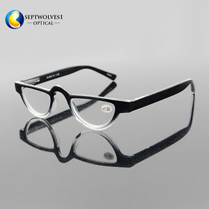 7a6e5f44bde Details about Half Moon Mens Women Vintage Spring Hinge Eyeglasses Reading  Glasses +1 +2 +3 +4