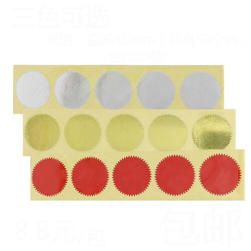 100x Prägestempel Personalisierte Siegel Label Aufkleber Geschenke Verpackung