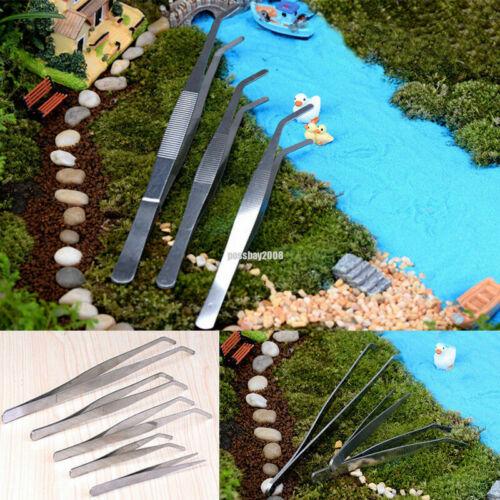 Stainless Steel Micro Landscape Tweezers Fairy Garden Miniature Gardening Tools