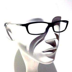 70b7cf549cd Vintage YSL Yves Saint Laurent Black Metal Acetate Eyeglasses Frame ...