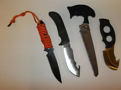 Lot of 3 Survival Knives Emergency Doomsday Prepper Bug Out Bag Hunting Disaster