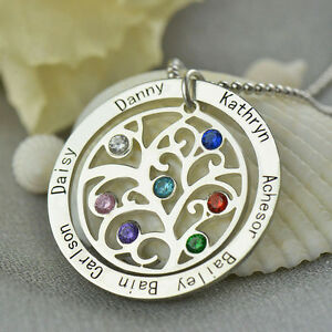 Personalized-Family-Tree-Necklace-Mother-039-s-Necklace-Birthstone-Name-Necklace