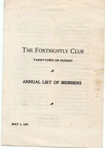 1899-The-Fortnightly-Club-Tarryton-on-Hudson-Annual-List-of-Members-May-1
