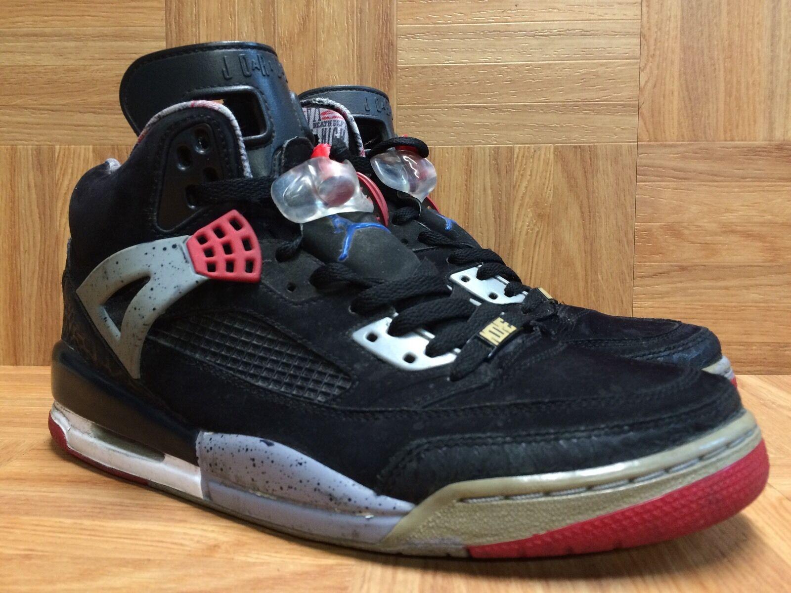 RARE Nike Air Jordan Spizike Black Red Cement Military bluee 315371-062 Sz 9.5