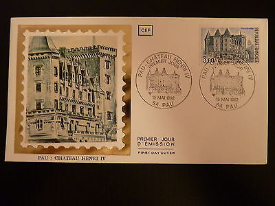 France Premier Jour Fdc Yvert 2195 Pau Le Chateau D Henri Iv 3f Pau 1982 Refreshing And Enriching The Saliva Timbres 1981 à 1985