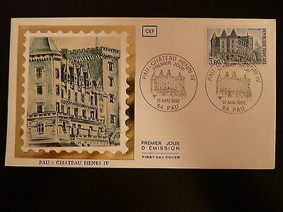 France Premier Jour Fdc Yvert 2195 Pau Le Chateau D Henri Iv 3f Pau 1982 Refreshing And Enriching The Saliva Timbres