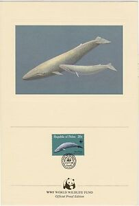 (EO52) 1983 WWF (B) official proof card whales &stamp