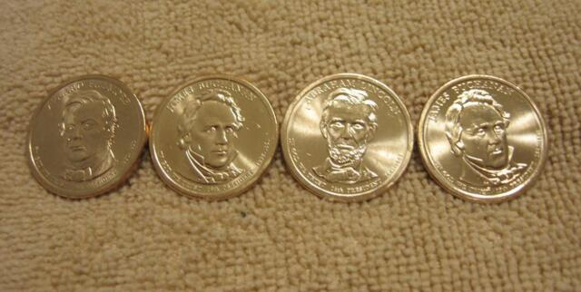 Uncirculated 2010 All 4 Presidential D Dollars BU 4 Coins