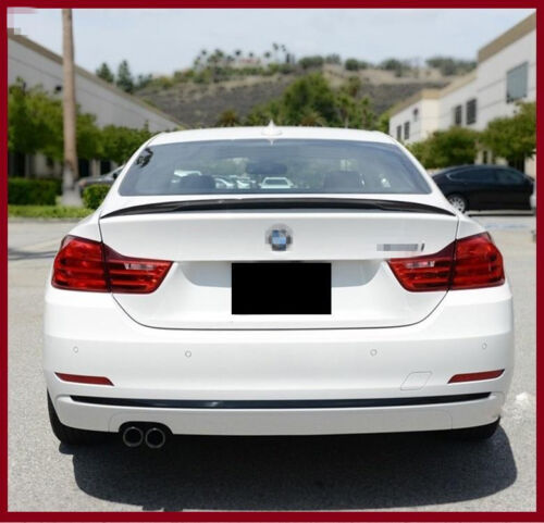 REAL CARBON FIBER LIP TRUNK REAR SPOILER FIT FOR BMW F32 4 SERIES 2014 UP P TYPE